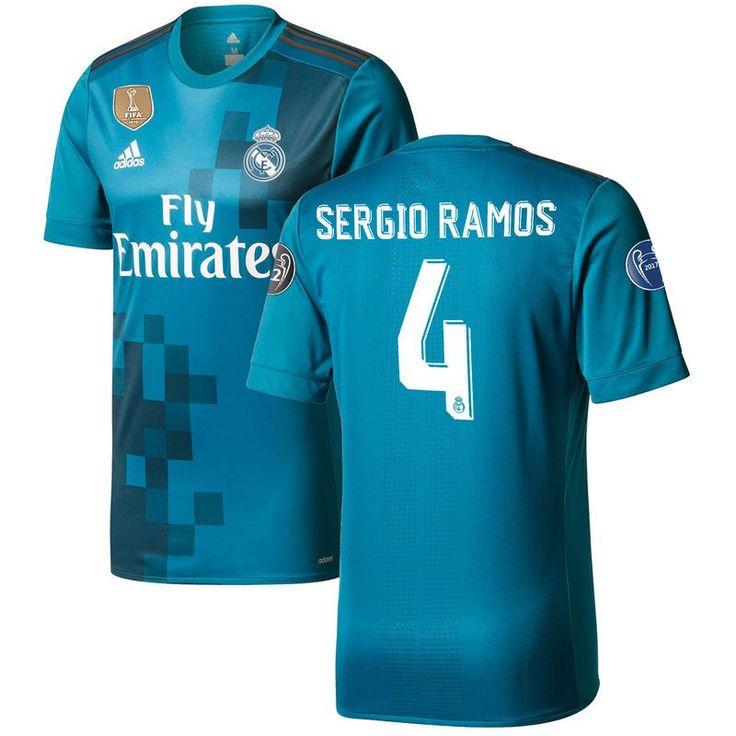 Sergio Ramos Real Madrid adidas 2017/18 Third Authentic Jersey - Teal