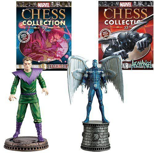 Marvel Chess Figurine Collection Magazine #32 Molecule Man - (Black Pawn) and #33 Archangel - (White @ niftywarehouse.com #NiftyWarehouse #Xmen #Marvel #X-Men #Comics #Geek #ComicBooks
