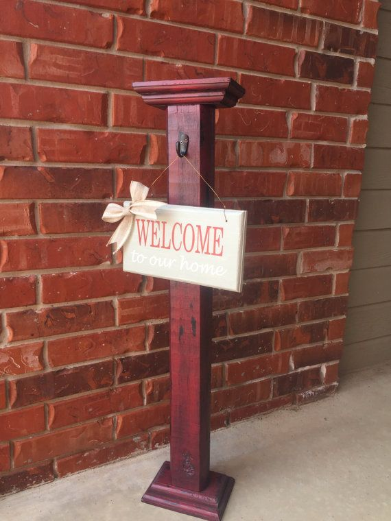 Porch Post Sign Post Outdoor Decorative Sign By