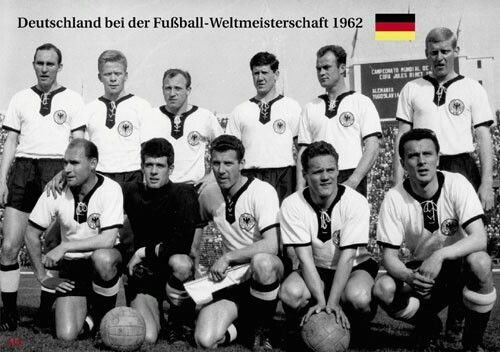 West Germany team group at the 1962 World Cup Finals.