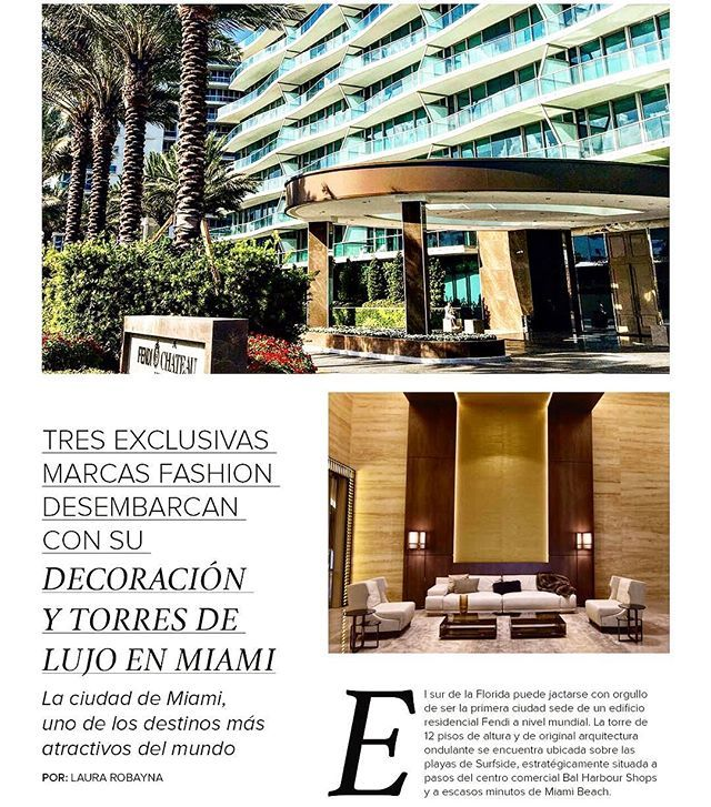 Happy to share a brief Sneak peek of the Article for @eventos_mag about international fashion houses dabbling into South Florida Real Estate, featuring names such as Fendi, Missoni and Armani. ---------------------------------------------------- Feliz de compartir un breve adelanto del artículo para @eventos_mag sobre grandes casas de la moda internacional que han incursionado en el mercado de bienes raíces del Sur de la Florida, tales como Fendi, Missoni y Armani. #localrealtors - posted by…