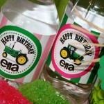 John Deere Tractor Birthday Party Water Bottle Labels