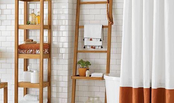 Banyolar İçin Dekoratif Duş, Havlu ve Köşe Rafları
