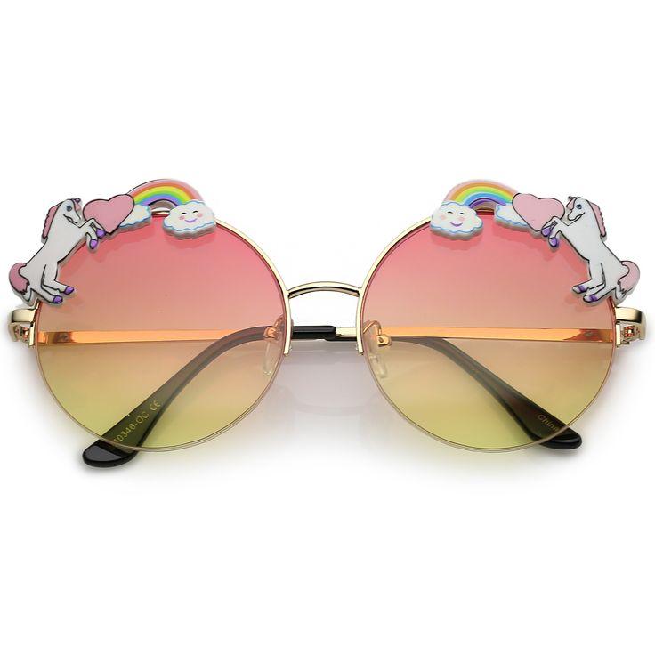 Round Unicorn Indie Festival Gradient Lens Sunglasses C430