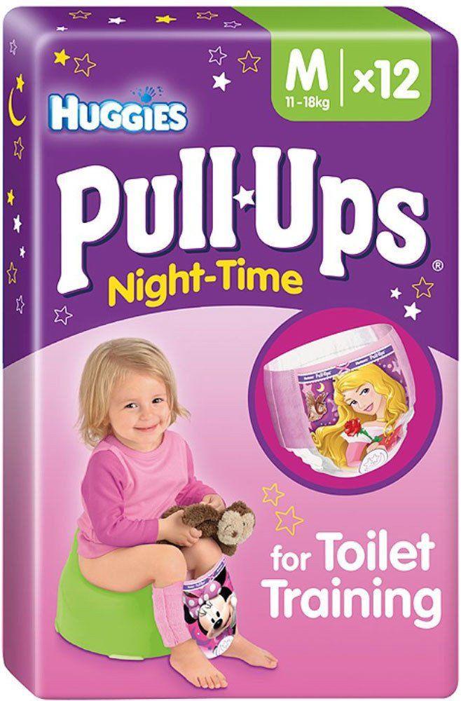 Huggies Pull-Ups Night Time Potty Training Pants Girls Size 5 Medium 12-18kg