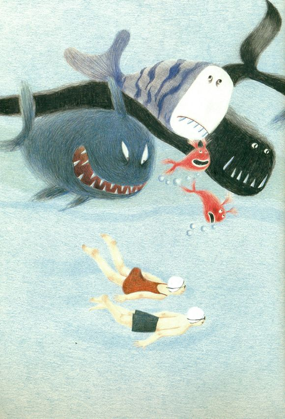 The Pool - Ji Hyeon Lee: Illustrations Art, Art Illustrations, L'Illustration Du Livre, Illustration Books, Picture Books, Artistes Du Livre, Illustrated Books, Activity Books, Art De L'Illustration