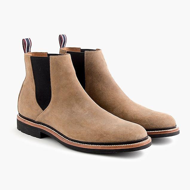 a04cf4542283 oar stripe chelsea boots in water-resistant italian suede   men shoes
