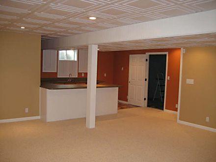 Drop Ceiling option for basement   Basement design ...