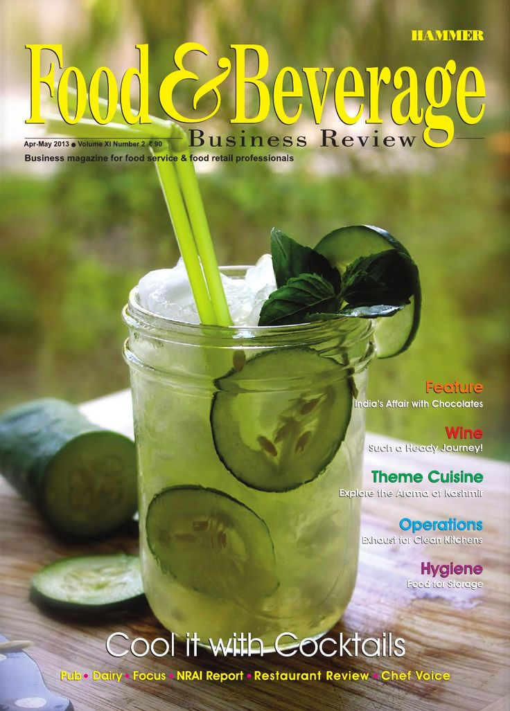 April-May 2013  In this issue of Food & Beverage Business Review, we have focused on the creativity involved in garnishing cocktails, and the evolving cocktail culture in India. We have also explored various emerging trends in cocktail preparation, which are getting reflected across Indian restaurant business. The continuing growth of the chocolates' market in India, the growing popularity of chocolates as gift items in urban India, and the introduction of premium chocolate brands in the…