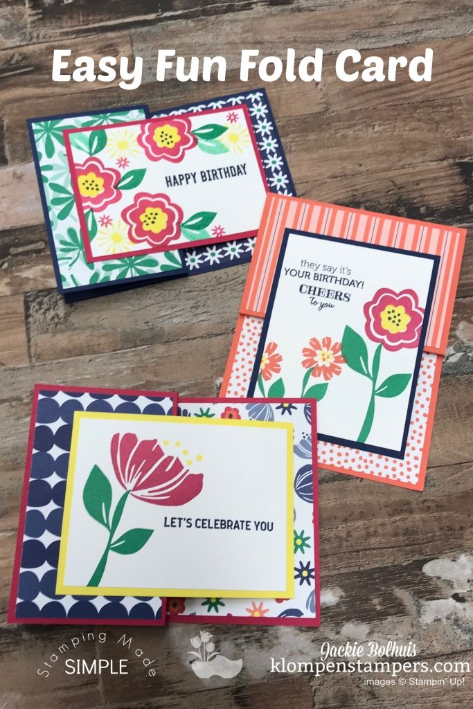 3 Amazing Birthday Cards From 1 Fun Fold Card Design Fun Fold