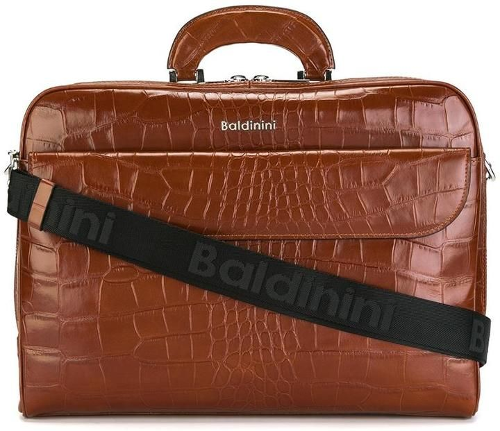 Baldinini crocodile skin effect briefcase