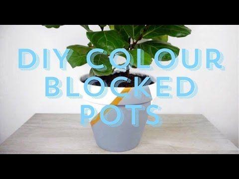 DIY Colour Blocked Pots l She The Maker - YouTube