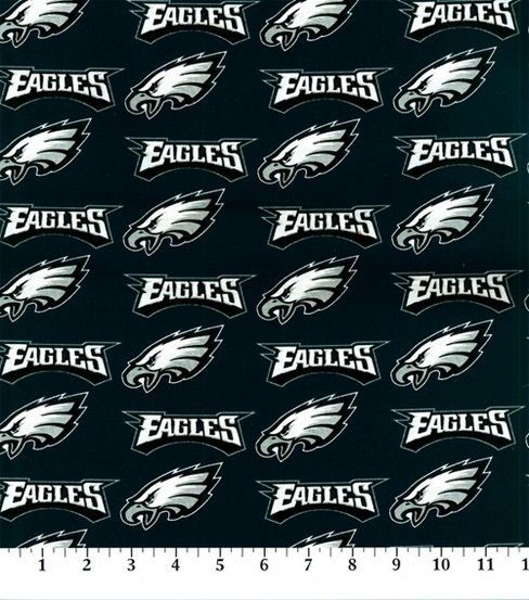 "Philadelphia Eagles Cotton Fabric 58"" - Logo"