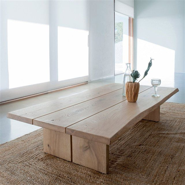 tapis rectangulaire en jacinthe d 39 eau hempy tapis table basse chene et table basse. Black Bedroom Furniture Sets. Home Design Ideas