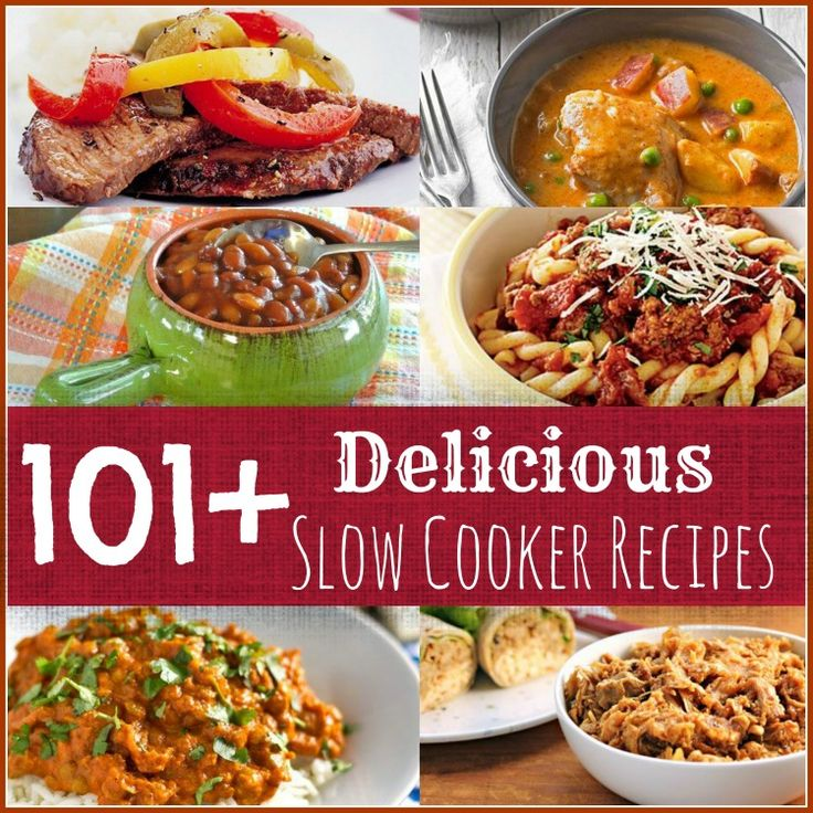 101+ Delicious #SlowCooker Recipes -- You're gonna want to pin/bookmark this for later!!