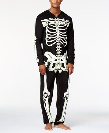 American Rag Men's Skeleton Onesie Costume, Only at Macy's | macys.com