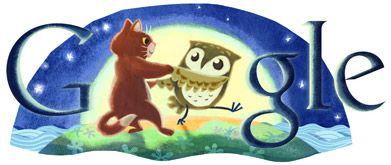 The Owl and the Pussycat went to sea, in a beautiful pea green boat...                                                                Edward Lear's 200th Birthday  #google doodles
