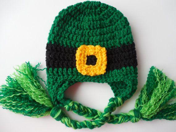St. Patricks Day  Baby Hat  Leprechaun  Hat  by ShelleysCrochetOle, $12.00