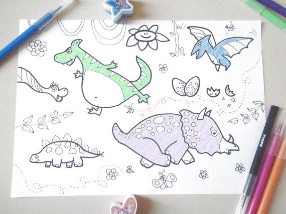 dinosaurs kids coloring dino children funny nice cute animals colouring kids activity baby download colouring printable lasoffittadiste