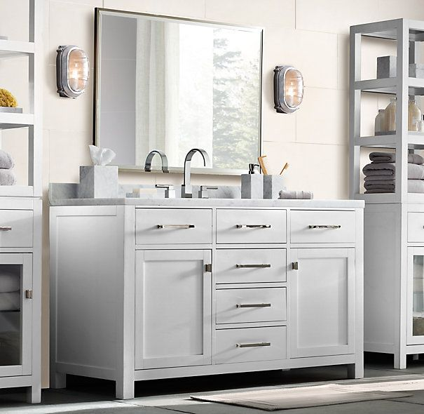 28 best restoration hardware style bathroom vanity images for Restoration hardware bathroom cabinets