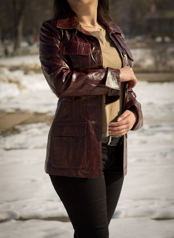 Handmade women's leather coat from calfskin nappa by V2Emporium