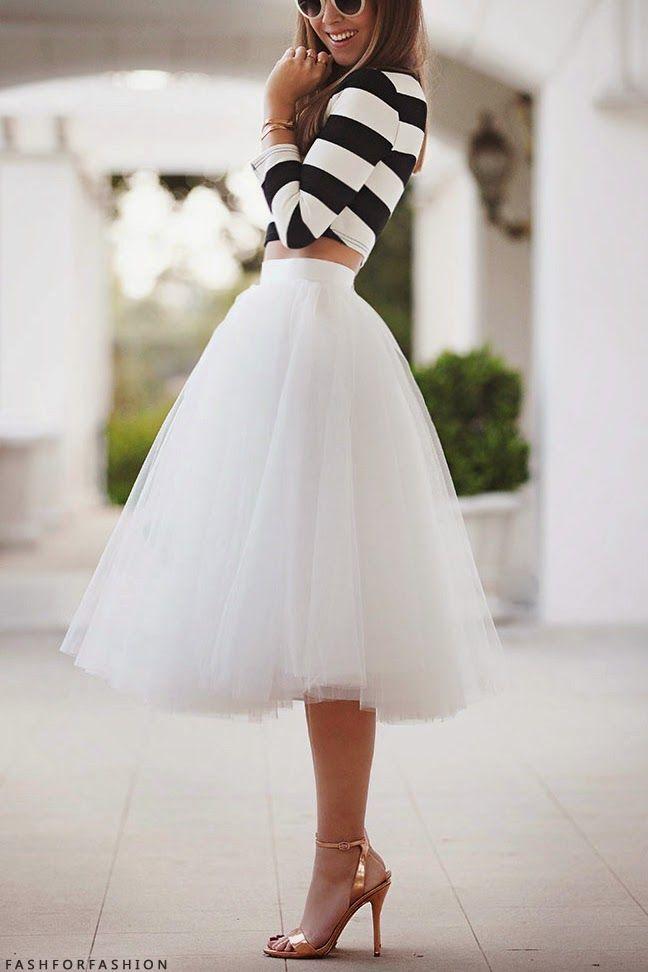 Vestidos de moda de tul