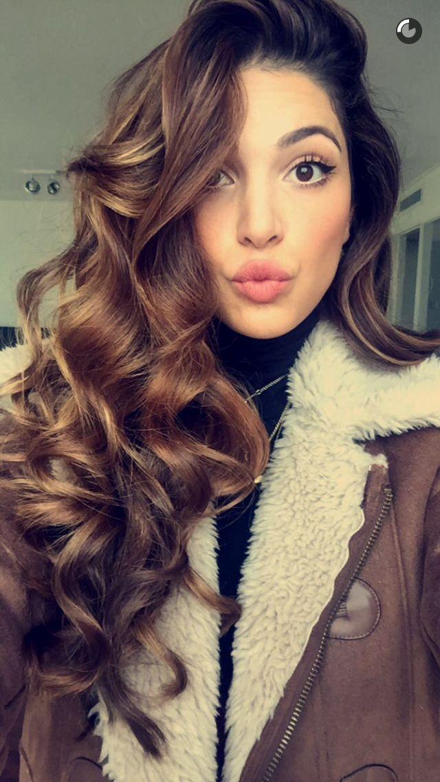 Negin Mirsalehi hair curled // aviator jacket <3                                                                                                                                                     More