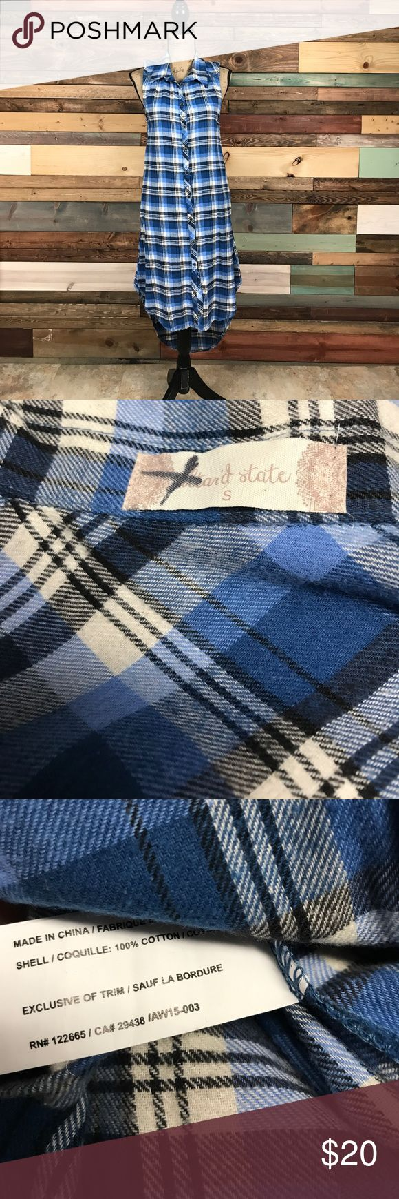 """Altar'd State Cotton Blue Plaid Flannel Tunic S Altar'd State Cotton Blue Plaid Flannel Tunic S // Bust: 18"""" // Waist: 18"""" laying flat // Length: 40-47"""" // Bundle your likes and make an offer for best deals @woodsnap! Altar'd State Tops Tunics"""