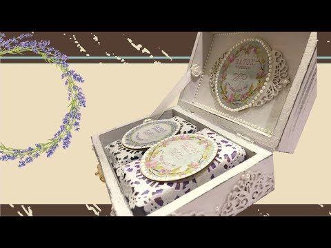 Ajándék doboz vintage stílusban kézműves szappanokkal