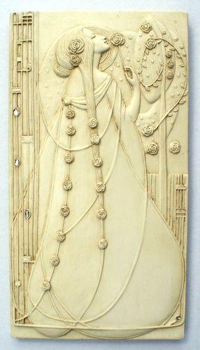 Ornate Art Nouveau Wall Tile.