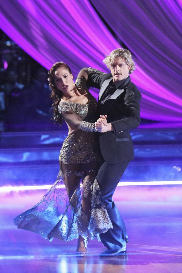 """Sharna Burgess & Charlie White tangoed to Avicil's """"Addicted to You"""" - Dancing With the Stars - week 2 - season 18 - spring 2014 - score 9+7+9=25 of 30 possible points"""