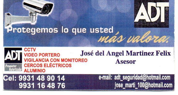 Alarmas ADT, seguridad para hogar y negocio en Villahermosa, asesor especializado, distribuidor Alarmas ADT