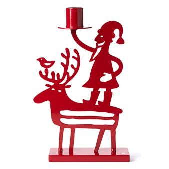 Santa and Reindeer candle holder - red - Bengt & Lotta ~ I LOVE Scandinavian goOdies! ~ Really cute Christmas candle holder!