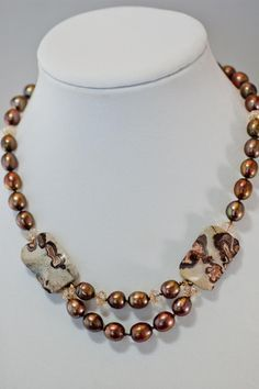 Brown Mink Necklace - Simply Unique Jewelry - 1
