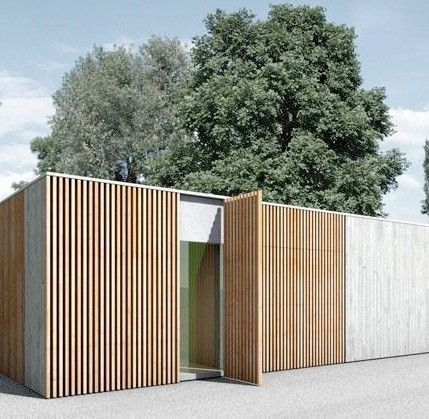 Wood and #concrete is a nice combination for external #wall