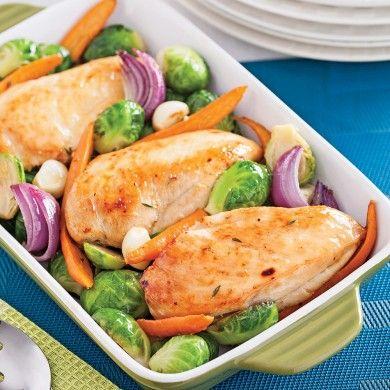Poulet à l'érable et légumes grillés - Recettes - Cuisine et nutrition - Pratico Pratique