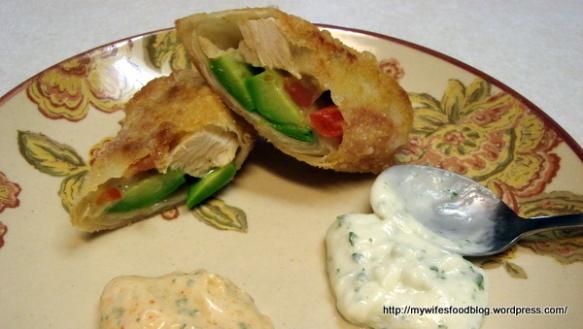 California Pizza Kitchen Avocado Club Egg Rolls. My Favorite!
