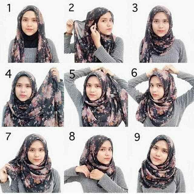 Tutorial Jilbab Segi Empat Simple Dan Elegan Inspirasi Fashion Hijab Gaya Hijab Kasual Hijab