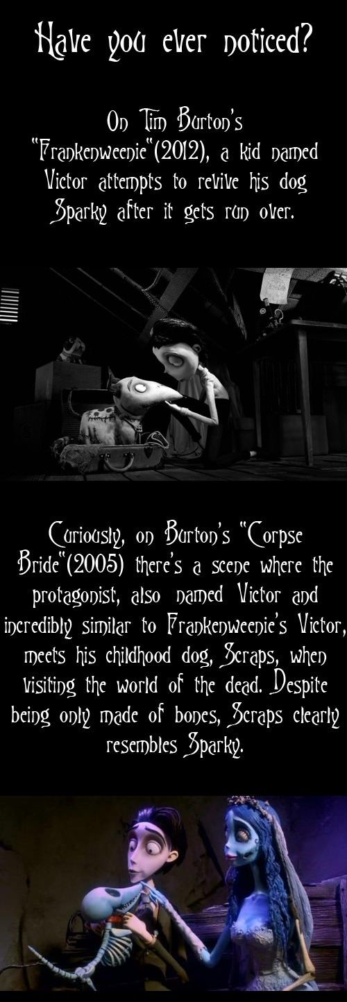 And what about The Nightmare Before Christmas (1993)?? Jack Skellington and Zero!! OH MY GOSH IT'S ALL ONE BIG MOVIE.