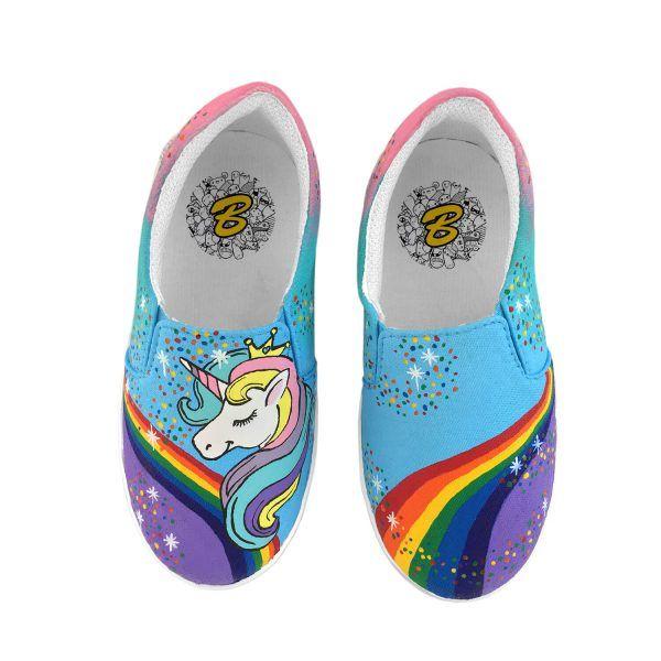 UNICORN Kids Slip On Shoes #handpainted