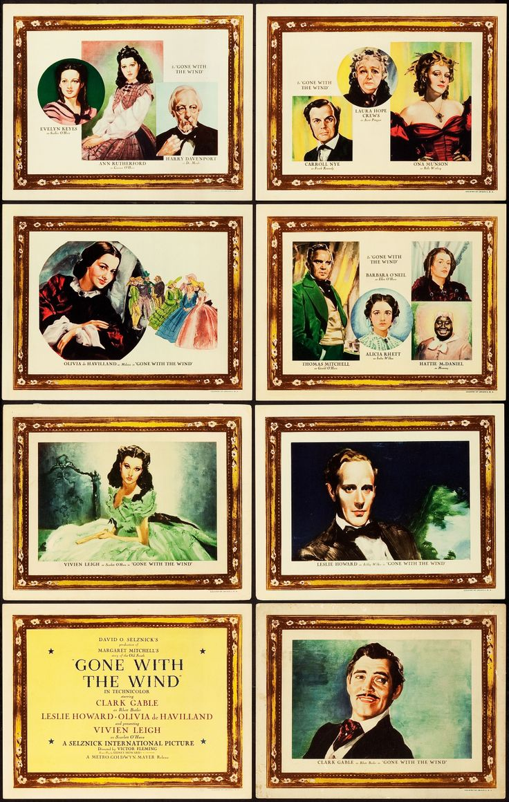 Gone with the Wind (MGM, 1939). Roadshow Lobby Card Set