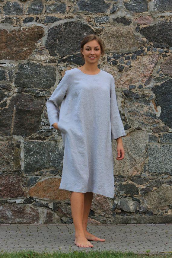 Linen tunic top. Linen clothing /  Flax tunic / Casual Comfortable Womens Clothing / Women's top