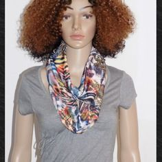 Originale echarpe tour de cou - deux tours !! fashiontime !! en jersey imprime taille:77cm.x 18cm belicious-delicious-creation