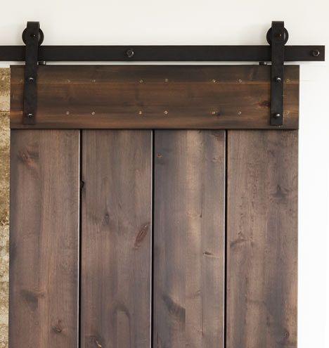 パントリーへのスライドドア 納屋風にするかガラス黒フレームか 6' Hand-Hammered Barn Door Track Kit