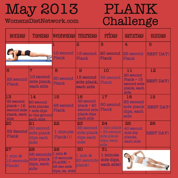 May Plank Challenge! Starts May 1st! Are you going to join in?