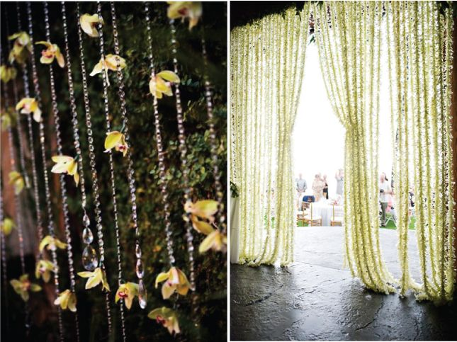 Best 25 flower curtain ideas on pinterest hanging for Bali wedding decoration ideas
