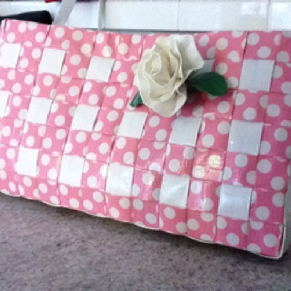 Duck brand tape purse with duck tape rose