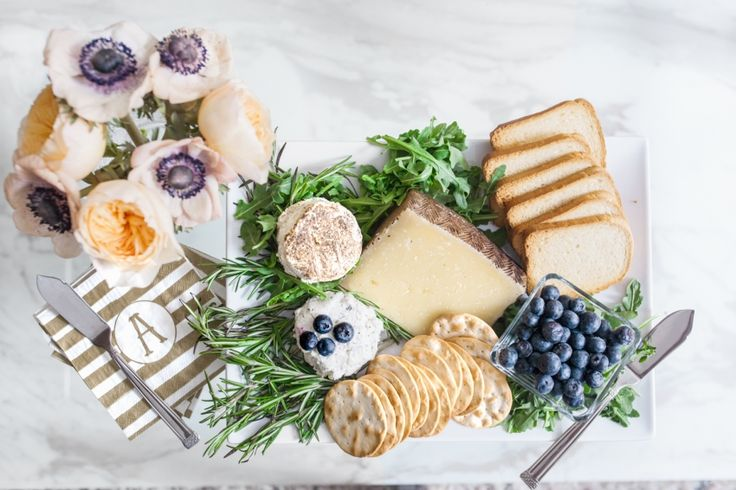 The Perfect Spring Cheese & Crackers Plate - Fashionable Hostess | Fashionable Hostess