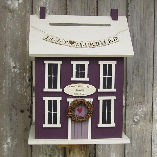 Een schattig huisje als alternatief voor je enveloppendoos op je bruiloft