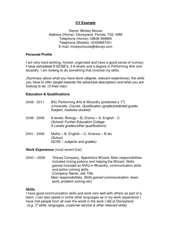 tags examples personal profile resume how write professional genius